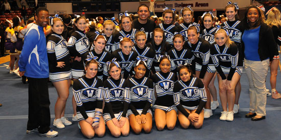 LWC cheerleading competed on Wednesday at the MSC Championships in Frankfort.