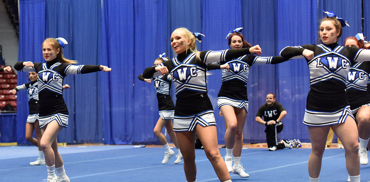 Photo for Cheerleading finishes fifth at Mid-South Conference Championships