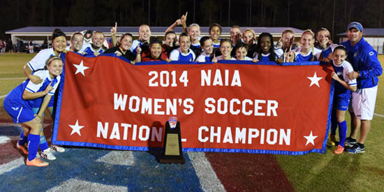 Lindsey Wilson is the 2014 NAIA Women's Soccer National Champion