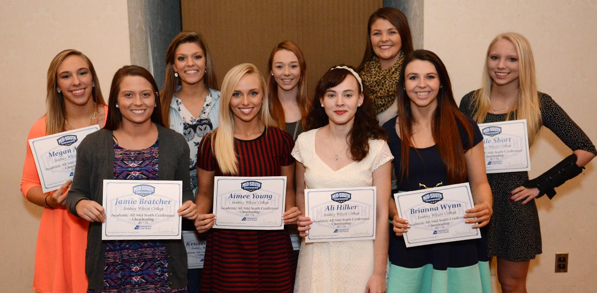 Photo for Nine student-athletes earn MSC Cheerleading Academic honors